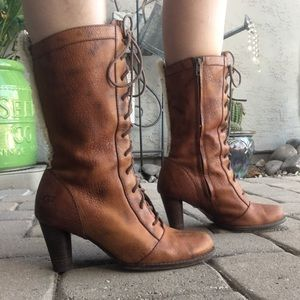 Ugg leather lace up boots